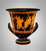 Terracotta calyx-krater (bowl for mixing wine and water)