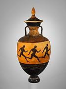Terracotta Panathenaic prize amphora