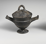 Terracotta cup with lid