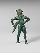 Bronze statuette of a satyr