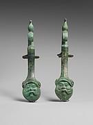 Pair of bronze amphora (jar) handles