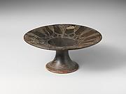 Terracotta stemmed plate