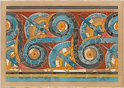 Reproduction of the &quot;Great S-spiral frieze&quot; fresco