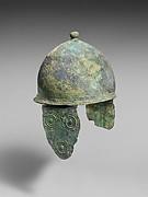 Bronze helmet with cheek-guards