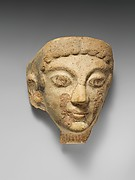 Terracotta antefix (roof tile) with female head