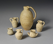 Terracotta olpe (one-handled jug)