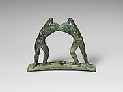 Bronze handle from a cista (toiletries box)