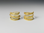 Pair of gold spirals