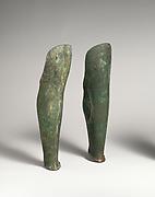 Pair of bronze greaves