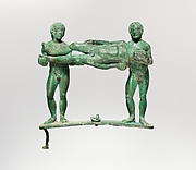 Bronze handle from a cista (toiletry box)