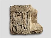 Nenfro tomb-slab fragment