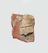 Stucco fragment with male torso
