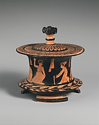 Terracotta pyxis (box)