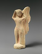 Limestone statuette of a mourning siren