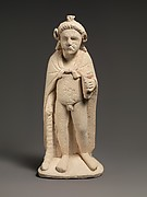 Limestone statuette of Pan or Opaon Melanthios