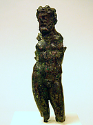 Bronze statuette of a god, possibly Poseidon