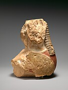 Fragmentary limestone sphinx