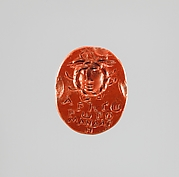 Jasper intaglio: Head of Medusa