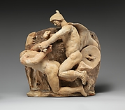 Terracotta relief probably from a funnel vase
