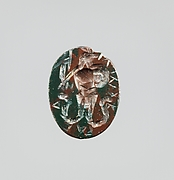 Jasper intaglio: Cock-headed anguipes
