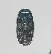 Hematite intaglio: Lion-headed god