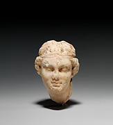 Marble head of a female satyr
