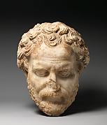 Marble head of Demosthenes