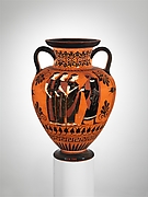 Terracotta neck-amphora (jar)