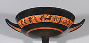 Terracotta kylix: band-cup (drinking cup)