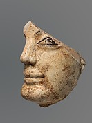 Terracotta head from a statue