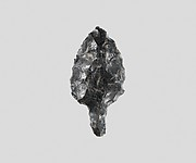 Obsidian leaf-shaped and tanged point