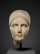 Marble portrait, probably of Matidia, niece of the emperor Trajan and mother of Sabina, wife of the emperor Hadrian