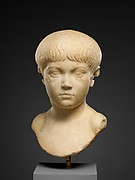 Marble portrait bust of a boy