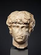 Marble portrait head of Antinoos
