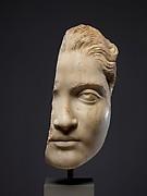 Fragmentary marble head of a girl