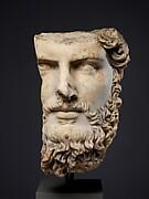 Marble portrait of the co-emperor Lucius Verus