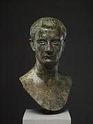 Bronze portrait bust of the emperor Gaius (Caligula)