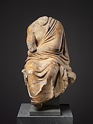 Marble statuette of a seated philosopher