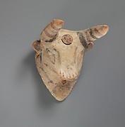 Terracotta bull's mask
