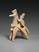 Terracotta horse and rider