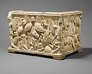 Marble fragment of a cinerary urn