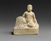 "Terracotta statuette of a ""temple boy"""