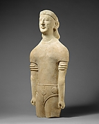 Limestone male figure
