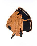 Fragmentary terracotta kylix (drinking cup)