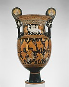 Terracotta volute-krater (vase for mixing wine and water)