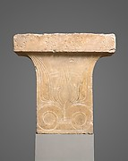 Marble cavetto capital