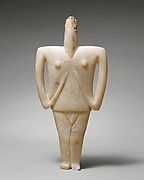 Marble female figure
