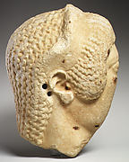 Marble head of a woman