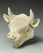 Terracotta head of a bull