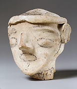 Terracotta male head